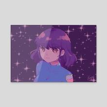 Purple Hue - Acrylic by kuraftii