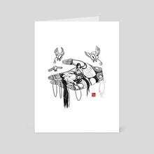 Goddess 's Hand White - Art Card by Najmeh Tahaei