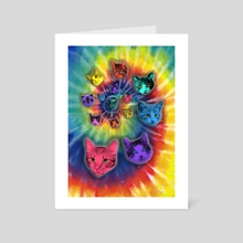 TIE DYE CATS - Art Card by Gloria Sánchez