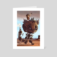 Robot Cat - Art Card by Maxime Chiasson Art