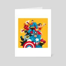 Super Friends - Art Card by Ryan Barr