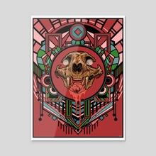 Deco Skull - Acrylic by Scott Buon