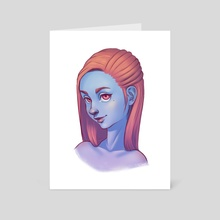 Blue Skin - Art Card by Carina Salchegger