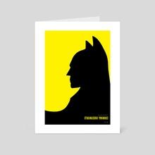 Batman vs. Penguin - Art Card by Simon C Page