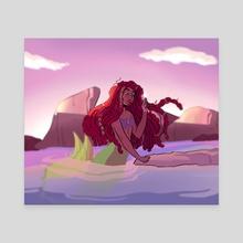 ariel - Canvas by coloured braids