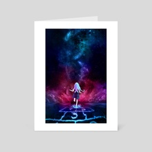 Over the Galaxy - Art Card by Aurora Lion