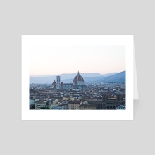Il Duomo, Florence - Art Card by Tomas Albergo