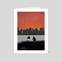 Comfortable Silence (Long Island City, New York) - Art Card by Cindy Kang