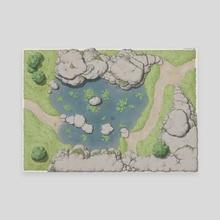 Tranquillity Pond - Canvas by Rafał Zatwarnicki