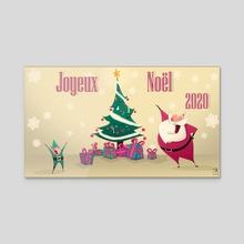 Merry Christmas  - Acrylic by Captain Jack