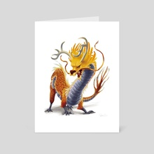 The great Mushu - Art Card by Claire Gary