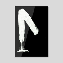 Macromannic Runes L Lagu 001 Inverted - Acrylic by Wetdryvac WDV