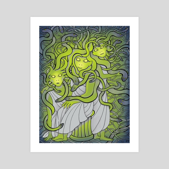 Medusa and the Gorgon Sisters by Eliza Stein