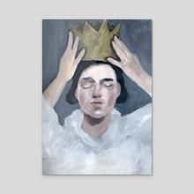 Crown Yourself  - Acrylic by Misty  Mawn