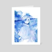 Blue Heart - Art Card by Jason Joseph Tecson