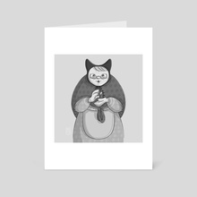 Old lady cat - Art Card by Marion Bartier