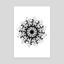 Biomechanical Mandala - Canvas by Vukasin Djerovski