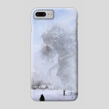 another day at work... Ded Moroz - Phone Case by Jakub Różalski