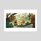 Sloth Jungle  - Art Print by Jamie Nicole