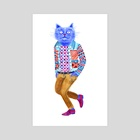 Blue Cat Man - Art Print by Lisa Hanawalt
