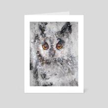 acrylic owl IV - Art Card by Monika Gehrke