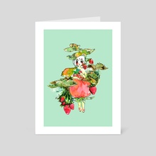 Strawberry Girl - Art Card by still waters