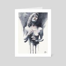 Small watercolor #02 - Art Card by Miroslav Zgabaj