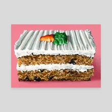 Carrot Cake - Canvas by Mary Herrera