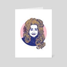 Portrait of Dolly Parton - Art Card by Caitlin Keegan