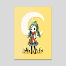 Bunny Girl - Acrylic by Indré Bankauskaité