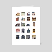 Houses - Art Card by Kirsten Shiel