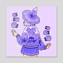 flower witch - Acrylic by fresh_bobatae