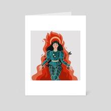 The Knight - Art Card by Anna Hunter
