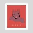 M E R G E D - Art Print by Charlie Cruz