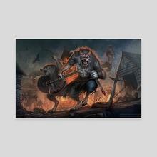 Viking werewolves - Canvas by Sophia Dankova