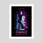 12 Monkeys - Art Print by Carina Tous
