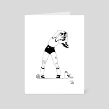 Inktober girl n7 - Art Card by Nathasha Padron
