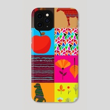 Graphic patchwork 9 - Phone Case by Michal Eyal
