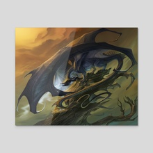Dark Dragon - Acrylic by Allison Theus