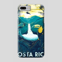 costa rica rainforest - Phone Case by matt schnepf