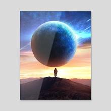 cosmic traveller - Acrylic by visualsbyshubham