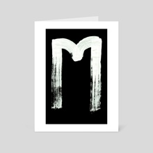Macromannic Runes E Eho 001 Inverted - Art Card by Wetdryvac WDV