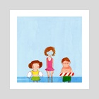 Pool Party - Art Print by Erin McGuire