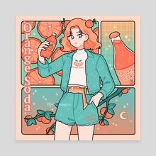 Orange Soda - Canvas by fresh_bobatae
