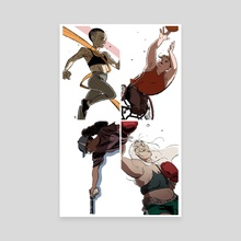 Fight like a girl - Canvas by Milsae Kim