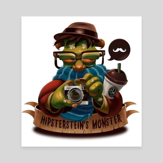 Hipsterstein's Monster by Danilo Fiocco