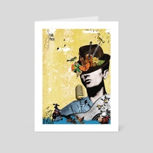 Folk and country music - Art Card by Michal Eyal