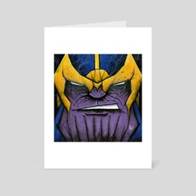 Thanos the Mad Titan - Art Card by Chris Panila