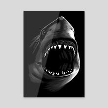 Megalodon - Acrylic by Alberto Perez
