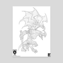 Zuriel - Canvas by Nicholas Kay